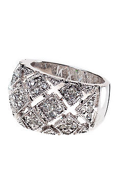 New Directions Basket Weave Pave Ring