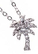 New Directions® Cubic Zirconia Palm Tree Necklace