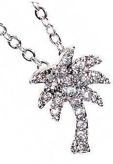 New Directions Cubic Zirconia Palm Tree Necklace