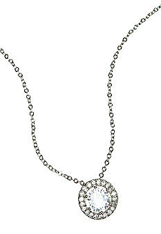 New Directions Round Stone and Pave Pendant Necklace