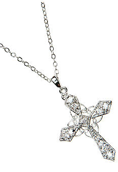 New Directions® Vintage Cross Pendant Necklace