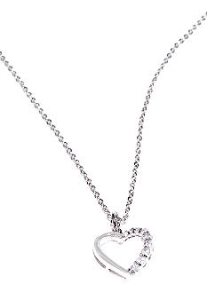 New Directions Cubic Zirconia Heart Pendant