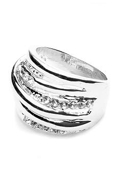 New Directions Crystal Wrap Ring