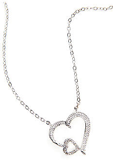 New Directions Double Heart Pendant