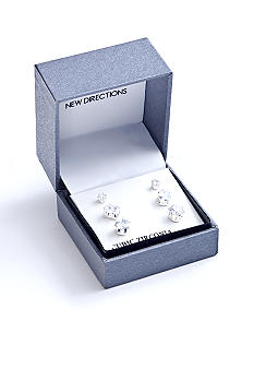 New Directions Multi Shape Trio Earrings Set