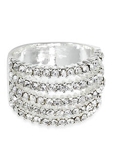 New Directions Five Row Pave Boxed Ring
