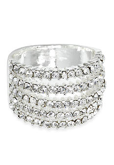 New Directions Five Row Pave Ring
