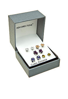 New Directions Five Pair Set Stud Earrings