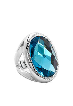 New Directions® Large Oval Aqua Ring