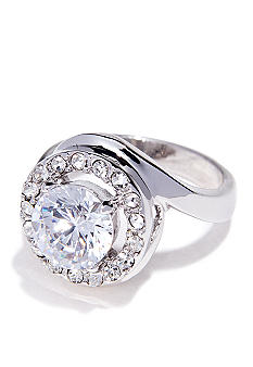 New Directions Cubic Zirconia Swirl Ring