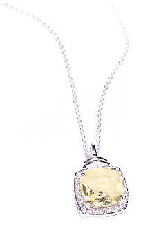 New Directions® Cushion Cut Pave Pendant