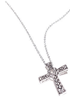 New Directions® Scroll Cross Pendant