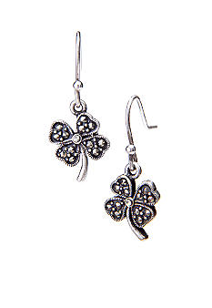 New Directions Clover Marcasite Earrings