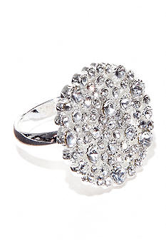 New Directions Crystal Pave Ring