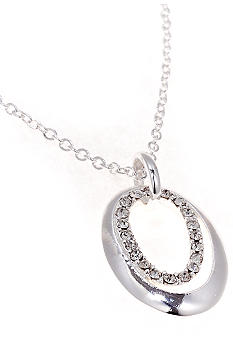 New Directions Oval Pave Pendant
