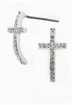 New Directions Pave Cross Earrings