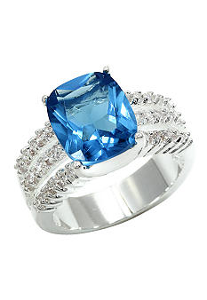 New Directions Pave Sky Blue Ring