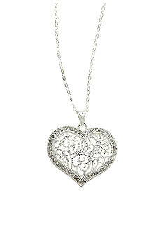 New Directions Crystal Pave Heart Necklace