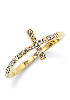 New Directions Pave Cross Ring