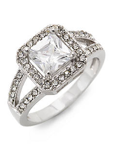 New Directions Square Pave Boxed Ring