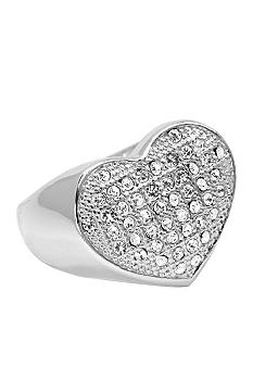 New Directions® Crystal Pave Heart Ring
