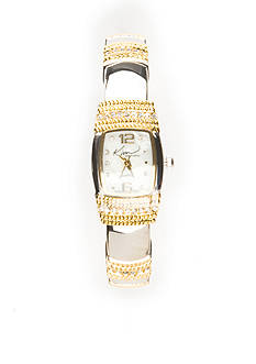Kim Rogers Women's Two Tone Bangle Watch