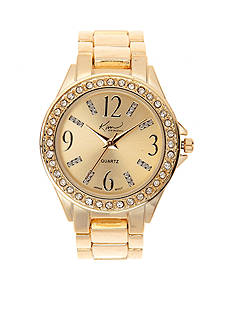 Kim Rogers Gold Bracelet Watch with Gold Dial