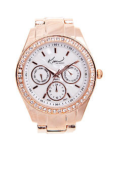 Kim Rogers® Rose Gold Bracelet Watch