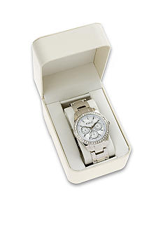 Kim Rogers Women's Silver Bracelet Watch