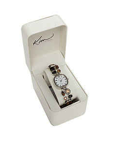 Kim Rogers Women's Tiger Eye Stretch Watch