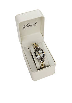 Kim Rogers Women's Two-Tone Bangle Watch