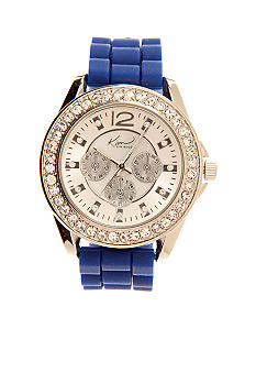 Kim Rogers Women's Blue Silicone Rubber Watch