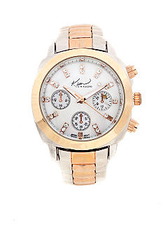 Kim Rogers Two Tone Silver/Rose Gold Watch