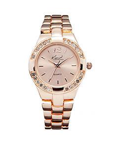 Kim Rogers® Women's Round Rose Gold-Tone Analog Bracelet Watch