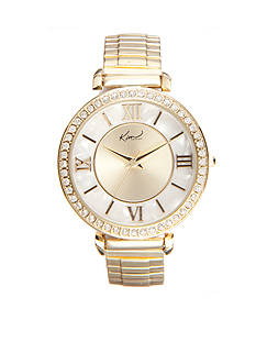 Kim Rogers Women's Round Gold-Tone Stretch Watch