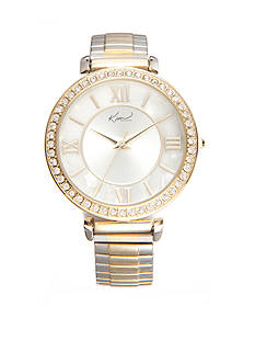 Kim Rogers Women's Round Two-Tone Stretch Watch