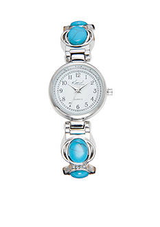Kim Rogers Women's Turquoise Cuff Watch