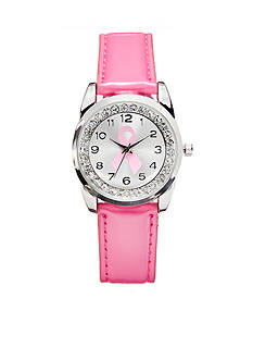 Kim Rogers Women's Breast Cancer Awareness Pink Patent Strap Watch