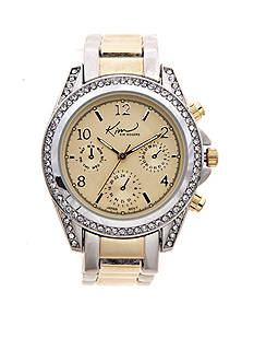 Kim Rogers Women's Two Tone Chrono Dial Watch