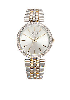 Kim Rogers Women's Round Two-Tone Bracelet Watch