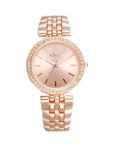 Kim Rogers Women's Round Rose Gold-Tone Bracelet Watch