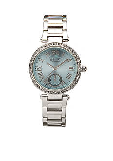 Kim Rogers Women's Round Silver-Tone Bracelet Watch