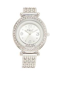 Kim Rogers Women's Silver-toned Bracelet Watch