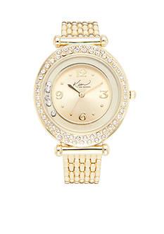 Kim Rogers Women's Gold-Tone Bracelet Watch