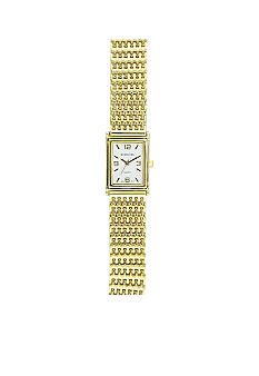 Kim Rogers Women's Gold Mesh Link Watch
