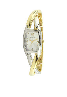 Kim Rogers Women's Two Tone Cross Over Banglette Watch