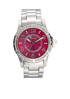 Kim Rogers Metal Link Colored Dial Watch