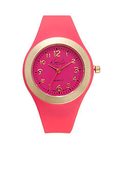 Kim Rogers Pink Silicone Watch
