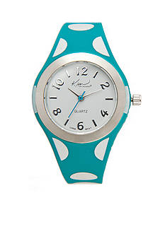 Kim Rogers Blue Polka Dot Silicone Watch