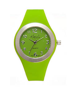 Kim Rogers Green Silicone Watch